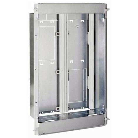 Bac + cadre métal 2 travées DRIVIA 13 pour coffret 4 rangées + panneau Enedis + coffret de communication basique (401449)