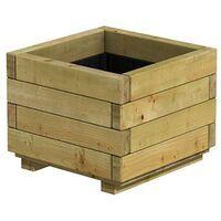 Bac carré en bois épicéa pot 40 x 40 x 32cm - Traité contre les fongicides