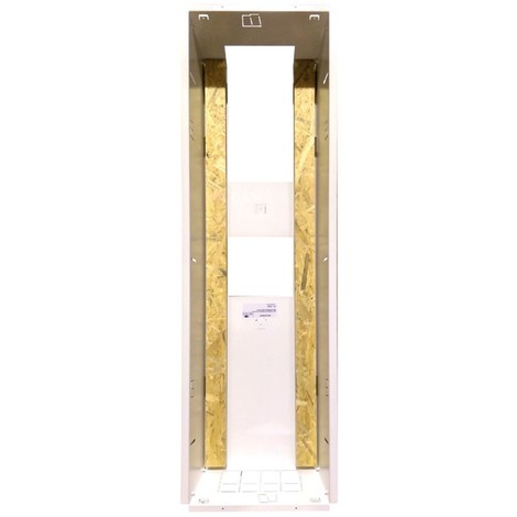 Bac coffret métallique encastré 254X1110mm prof 160mm blanc pour installation tableau 4 rangées sans porte SIB ADR P06464