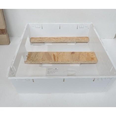 Bac coffret métallique encastré 510X500mm prof 180mm blanc pour tableau 3 rangées + platine EDF sans porte SIB ADR P06403