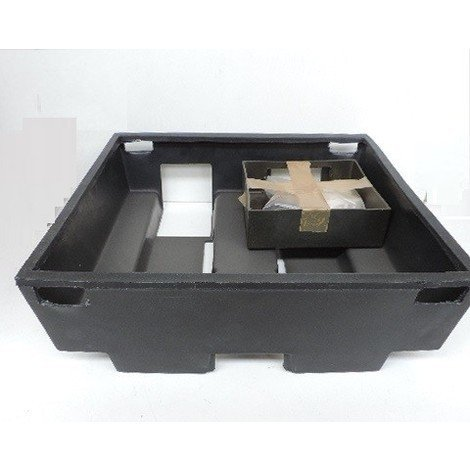 Bac coffret plastique encastré 500x500mm prof 180mm pour installation tableau 3 rangées + platine EDF sans porte SIB ADR P06203
