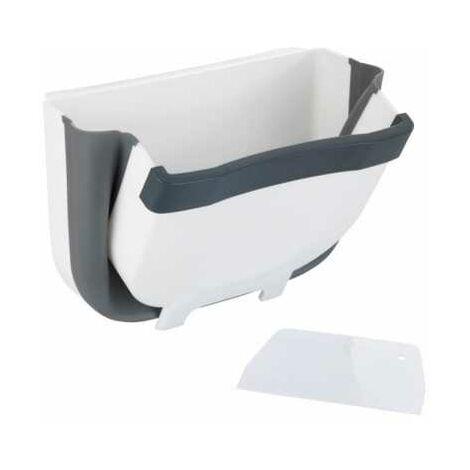 Bac de collecte pour déchets, compost, à accrocher au placard de cuisine, retractable, capacité 5L