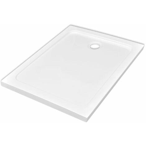 Bac de douche rectangulaire ABS Blanc 80 x 110 cm