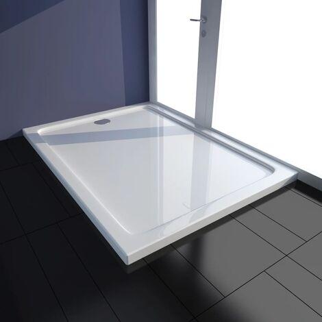 Bac de douche rectangulaire ABS Blanc 80 x 110 cm839-A