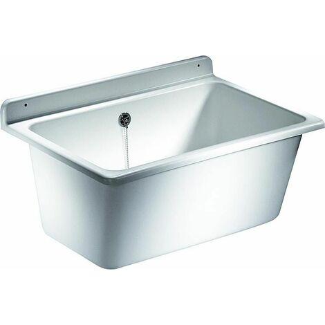 Bac de lavage avec trop-plein en plastique résistant aux chocs, à la température et aux intempéries ,