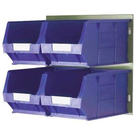 Bac de rangement RS PRO Bleu en PP, 132mm x 205mm x 350mm