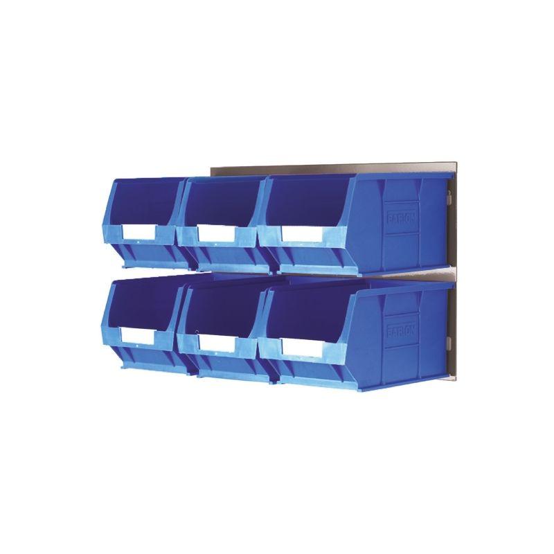 Bac de rangement RS PRO Bleu en PP, 132mm x 150mm x 240mm