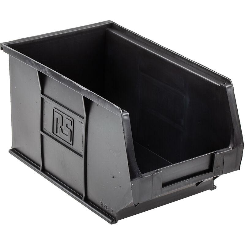 Rs Pro - Bac à bec Noir Plastique, 132mm x 150mm x 240mm empilable