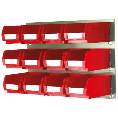 Bac de rangement RS PRO Rouge en PP, 75mm x 100mm x 165mm