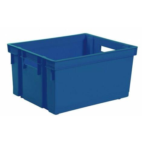 Bac de rangement sans couvercle 50 l 56 x 41 x 29,5 bleu minéral