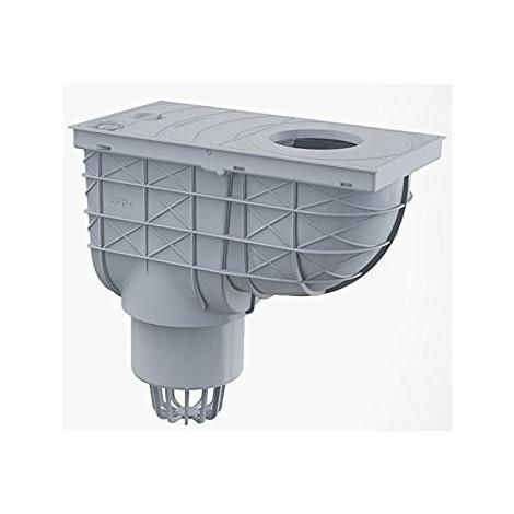 Bac de récupération d'eau de pluie pour tuyaux de descente 300/155/110 VERTICAL gris