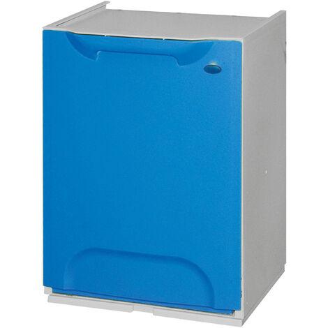 Bac de recyclage en polypropylène bleu, avec un réservoir de 20 litres à l'intérieur.