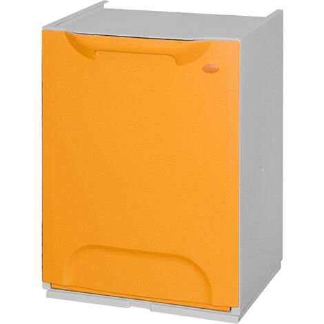 Bac de recyclage en polypropylène jaune, avec réservoir intérieur de 20 L.