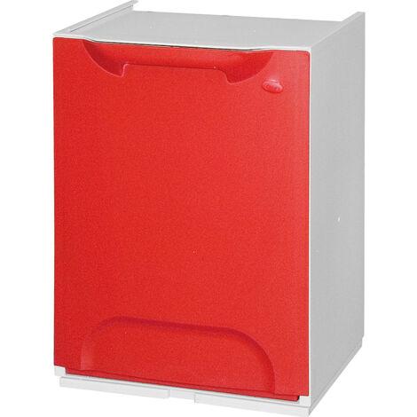 Bac de recyclage en polypropylène rouge, avec réservoir intérieur de 20 L.