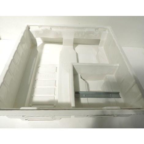 Bac d'encastrement 560X600X167mm PVC blanc 2 travées pour coffret modulaire 3R + Com + disj tri EDF SERIE 56 COFRELEC BC56.3TRI