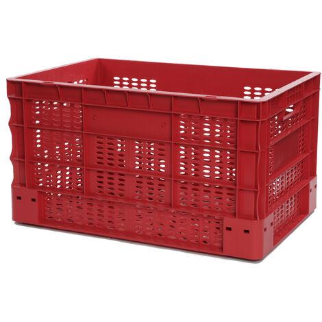 Bac europe ajouré 600x400x330 rouge Multiroir - Rouge