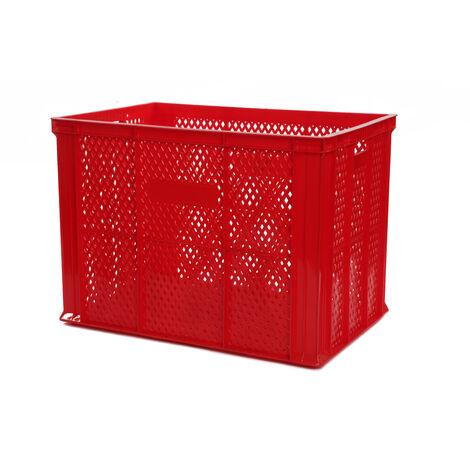 Bac europe ajouré 600x400x420 rouge Multiroir - Rouge