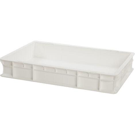 Bac gerbable 600x400x100 blanc Multiroir - Blanc