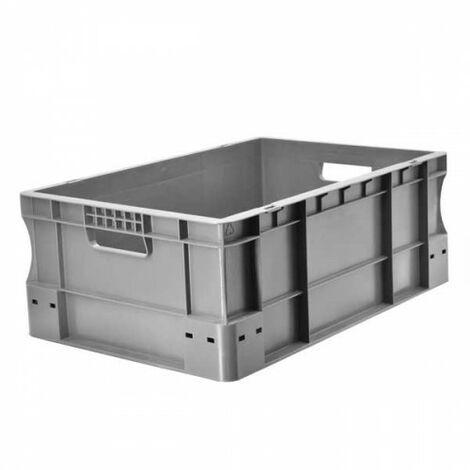 Bac gerbable 600x400x220 gris Multiroir - Gris