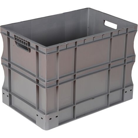 Bac gerbable 600x400x420 gris Multiroir - Gris
