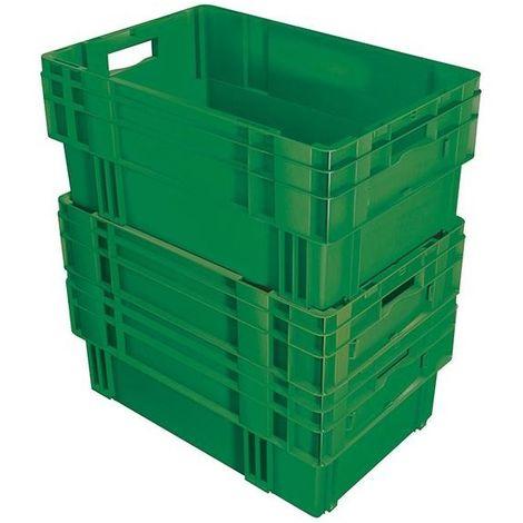 Bac gerbable Europe en PP qualité alimentaire - charge max. 20 kg, gris argenté - capacité 5 l, hauteur extérieure 120 - Coloris: Gris argenté