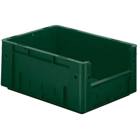 Bac gerbable normes Europe - capacité 14,5 l, L x l x h ext. 400 x 300 x 175 mm, lot de 4 - vert