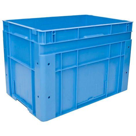 Bac gerbable normes Europe - dim. ext. L x l x h 600 x 400 x 420 mm - bleu, à l'unité
