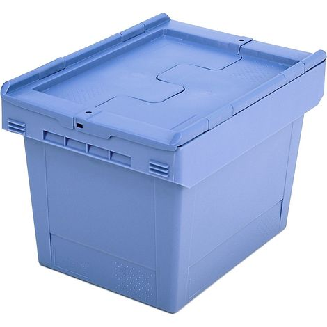 Bac gerbable universel à couvercle rabattable - capacité 22 litres - 1 pièce et + - Coloris: Bleu