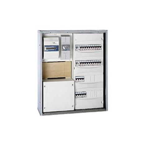 Bac large métal GTL encastré 540X550X180mm pour coffret 2/3 rangées + platine EDF Legrand 005141