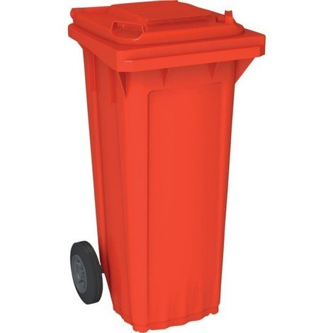 Bac poubelle WAVE 80-litres rouge