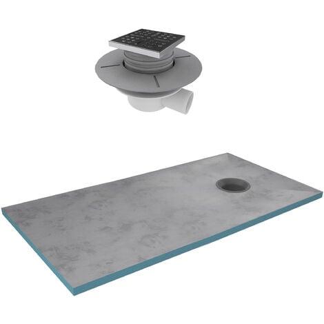 """main image of """"Bac receveur de douche à carreler 160x90cm recoupable sur mesure + bonde horizontale - RAINY"""""""