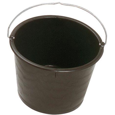 Bac rond en polyéthylène noir 20 L - Mob/Mondelin