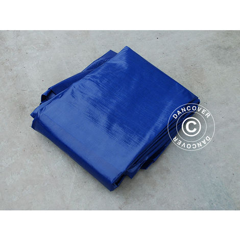 Bâche 10x20m, PE 250g/m², Bleu