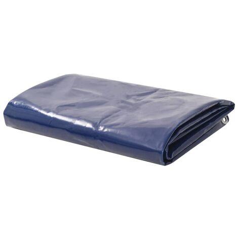 Bâche 650 g / m² 4 x 7 m Bleu