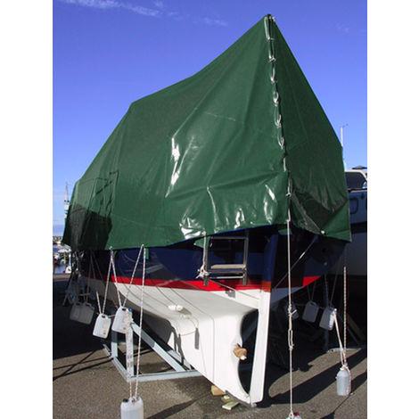 Bâche 8x10m, PVC 600g/m², Vert, Ignifugé
