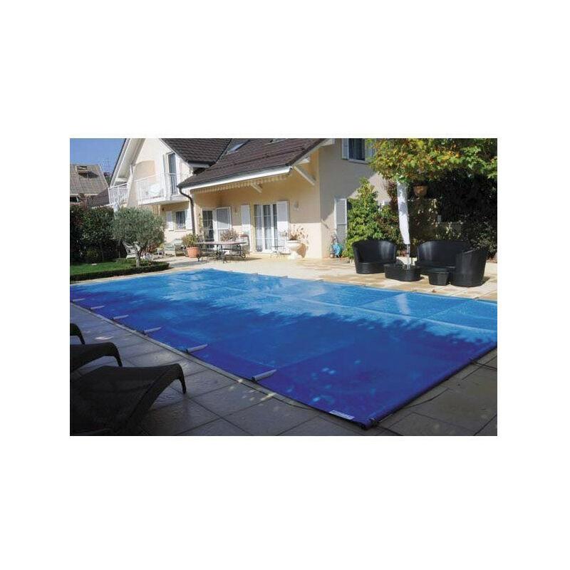 Bâche à barre piscine Premium - Modèles: Pour piscine 7 x 4 m - Couleur: Vert/beige
