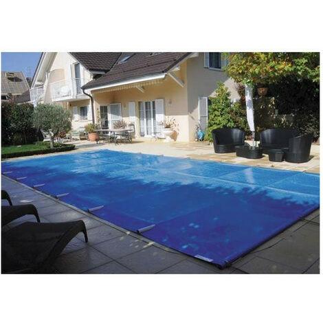 Bâche à barre piscine Premium - Modèles: Pour piscine 7 x 4 m - Couleur: Bleu/beige