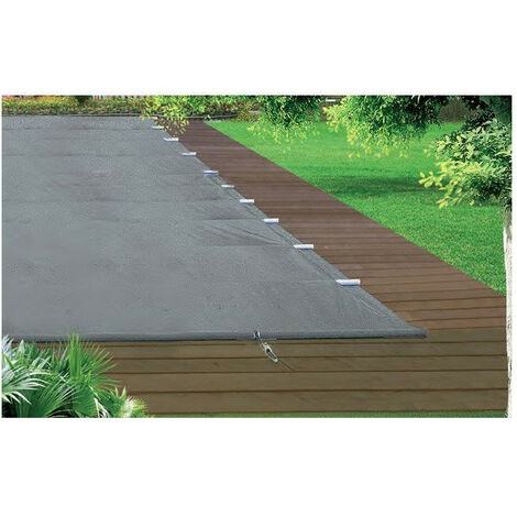 Bâche à barre piscine Premium - Modèles: Pour piscine 7 x 4 m - Couleur: Gris/beige