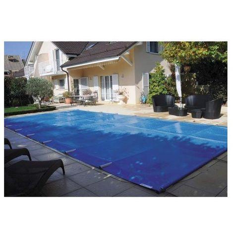 Bâche à barre piscine Premium - Modèles: Pour piscine 8 x 4 m - Couleur: Gris/beige