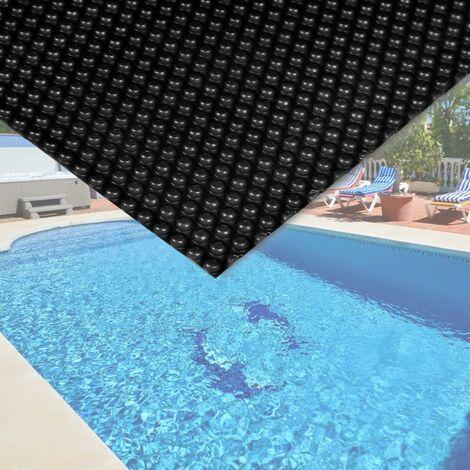Bache à bulle été 140µ noire pour piscine 5 x 8 m