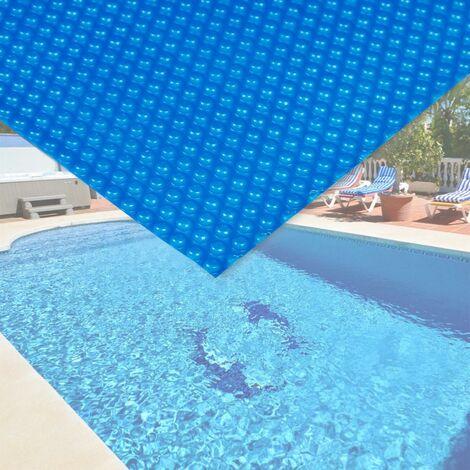 Bache à bulle été 400µ bleue pour piscine 5 x 8 m