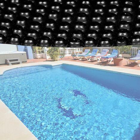 Bache à bulle été 400µ noire pour piscine ronde 3m60
