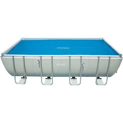 Bâche à bulles pour piscine rectangulaire - 732 x 366 cm - Bleu