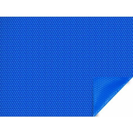 Bâche à bulles pour piscine Rio - 400 µ - bordée 1 côté - Bleu