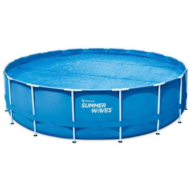 Bâche à bulles pour piscine ronde Summer-Waves Ø 5,49 m