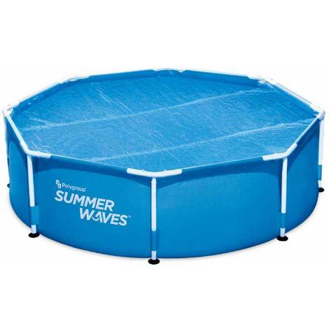 Bâche à bulles pour piscine ronde Summer-Waves Ø 2,44 m