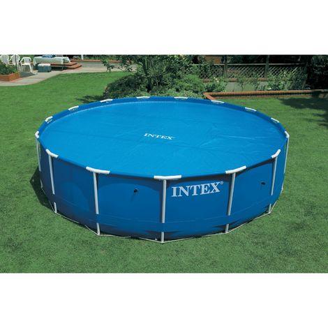 Bâche à bulles pour piscine ronde tubulaire - Diam. 549 cm - Bleu