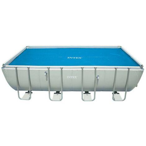 Bâche à bulles pour piscine tubulaire rectangulaire 7,32 x 3,66 m - Intex