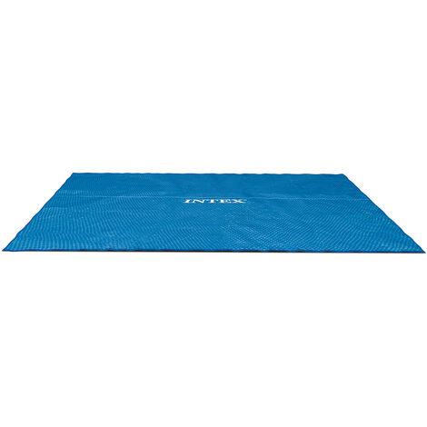 Bâche à bulles pour piscine tubulaire rectangulaire 7,32 x 3,66 m - Intex - Bleu