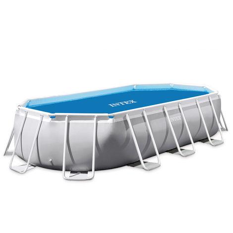 Bâche à bulles renforcée pour piscine tubulaire ovale 6,10 x 3,05 m - Intex